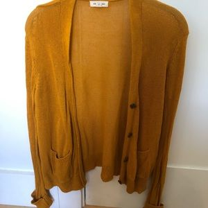 Urban Outfitters Mustard Yellow Slouchy Cardigan